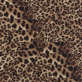 Ganse élastique Léopard 20 mm - beige x 50cm