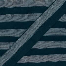 40 mm bicolor Lurex Elastic - Blue/Silver Party x 1m