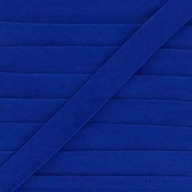 Biais replié velours 20mm - bleu x 1m