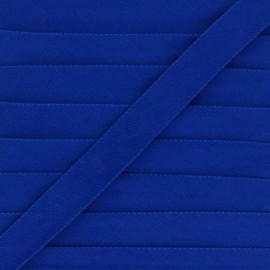 20mm Folded Velvet Bias Binding - blue x 1m