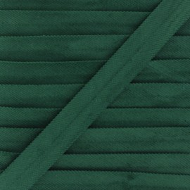20mm Folded Velvet Bias Binding - green x 1m