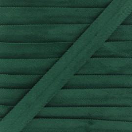 Biais replié velours 20mm - vert x 1m