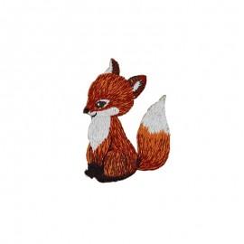 Thermocollant brodé Fox - roux