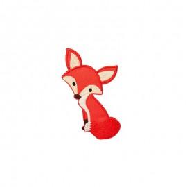 Iron-on patch - orange Cute Fox
