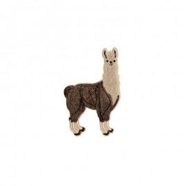 Iron-on patch - beige/black Llama