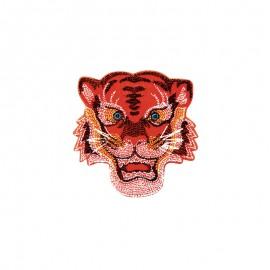 Iron-on patch - orange Tiger