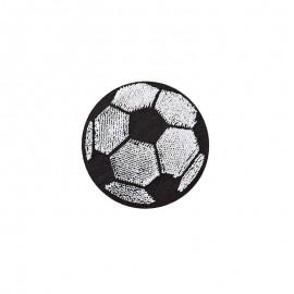 Iron-on patch - black/white Football