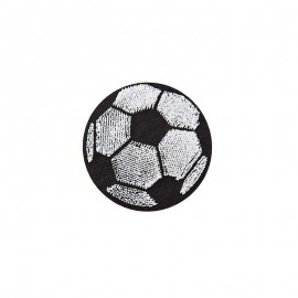 Thermocollant Football relief - noir/blanc