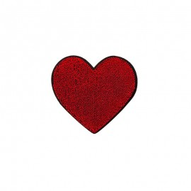 Iron-on patch - red Sweetheart