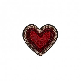 Iron-on patch - red Little Sweetheart