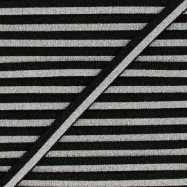 Elastique bicolore Lurex Glam Night - Noir/Argent x 1m