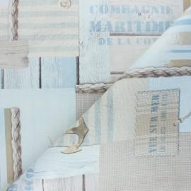 Tissu toile cirée Seaside Holidays - beige x 10cm
