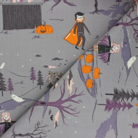 ♥ Coupon 170 cm X 110 cm ♥ AGF cotton fabric - Spooky 'n Sweet Peppermint's Tale Nightfall