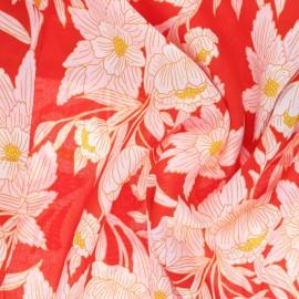 ♥ Coupon 30 cm X 135 cm ♥ AGF Rayon fabric - 365 Fifth Avenue - Madison Avenue Blaze