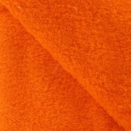 Tissu éponge orange x 10cm