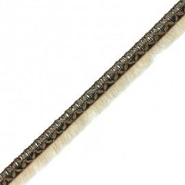 Ruban galon à franges Moana - kaki/beige x 50cm