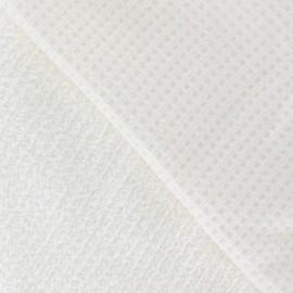 Tissu éponge nid d'abeille écrue
