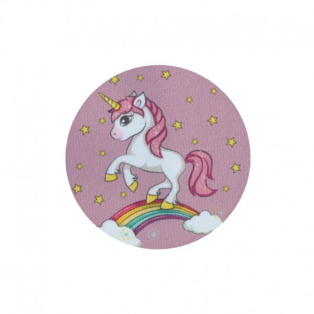Iron-On Patches for Elbow/Knee - pink Unicorn (pair)