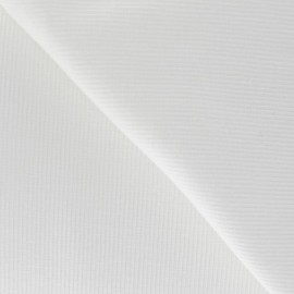 Knitted Jersey 1/2 tubular edging fabric x 10 cm - White