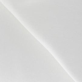 Tissu jersey tubulaire bord-côte 1/2 blanc x 10cm