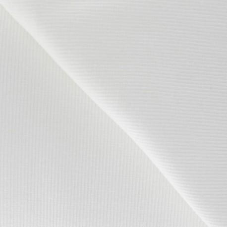 Knitted Jersey 1/2 tubular edging fabric x 10 cm - White