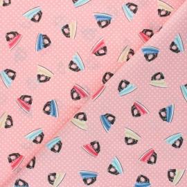 Tissu coton Makower UK Stitch in Time Fer - Rose x 10cm