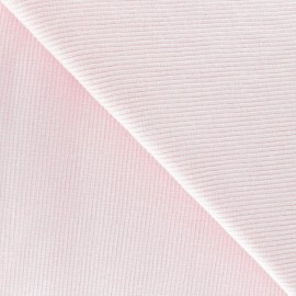 Knitted Jersey 1/2 tubular edging fabric x 10 cm - pink
