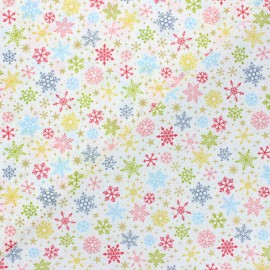 Makower UK Fabric Joy - off-white Snowflakes x 10cm