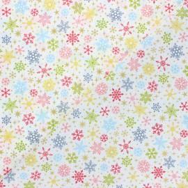 Tissu coton Makower UK Joy Flocons - blanc cassé x 10cm
