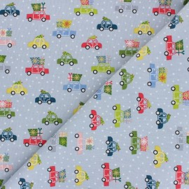 Makower UK Fabric Joy - grey Cars x 10cm