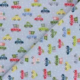Tissu coton Makower UK Joy Voitures - gris x 10cm