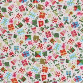 Makower UK Fabric Let it Snow - raw Presents x 10cm