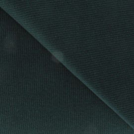 Knitted Jersey 1/2 tubular edging fabric x 10 cm - Pine green