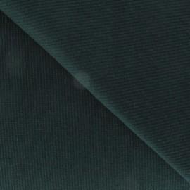 Tissu jersey tubulaire bord-côte 1/2 vert pin x 10cm