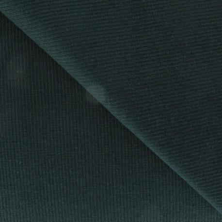 Knitted Jersey 1/2 tubular edging fabric x 10 cm - Pine green