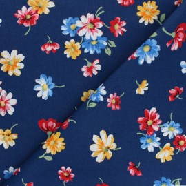 Makower UK Fabric Stramberry Jam - blue Falling Blossoms x 10cm