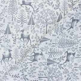 Makower UK Fabric Scandi - off-white Scenic x 10cm
