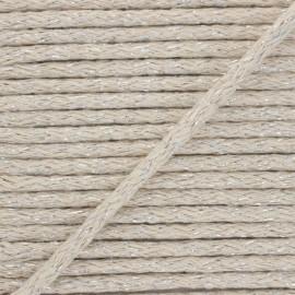 6mm round Lurex cord - raw x 1m