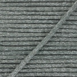6mm round Lurex cord - grey x 1m