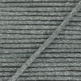 Cordon rond lurex 6mm - gris x 1m