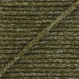 Cordon rond lurex 6mm - kaki x 1m