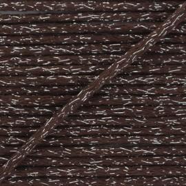 Cordon rond lurex 6mm - marron x 1m