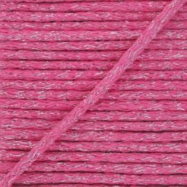 6mm round Lurex cord - fuchsia x 1m