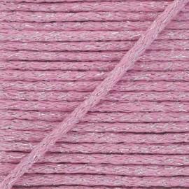 6mm round Lurex cord - pink x 1m