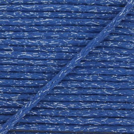6mm round Lurex cord - blue x 1m