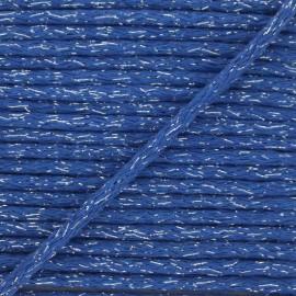 Cordon rond lurex 6mm - bleu x 1m