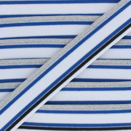 Ruban élastique Shiny Workout 40mm - bleu/blanc x 50cm