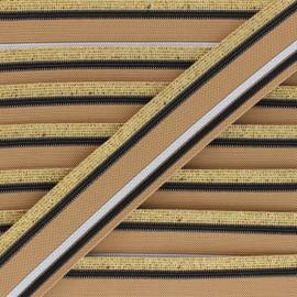 40mm Elastic band Shiny Workout - beige x 50cm