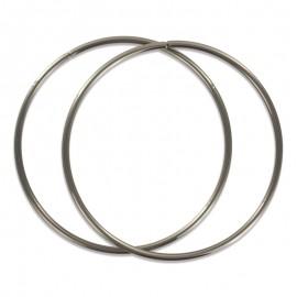 Anses de sac rondes Métal 14cm - gris (la paire)