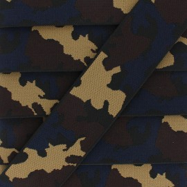 45 mm Camouflage Elastic Ribbon - Brown x 1m